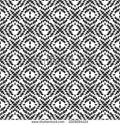 Black and White Seamless Ethnic Pattern. Vintage, Grunge, Abstract Tribal Background for Textile Design, Wallpaper, Surface Textures, Wrapping Paper #ethnic #pattern #seamlesspattern #seamless #stock #annamusiienko