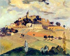 Peinture d'Yves Brayer Gordes 1948