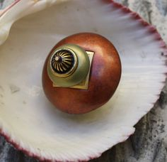 Susan Goldstick Dark Copper /Jade Mini 11 Decorative Cabinet Knob