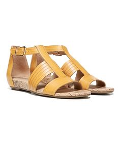 Yellow Longing Leather Sandal