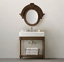 Weathered Oak Single Console Sink  (I wish)