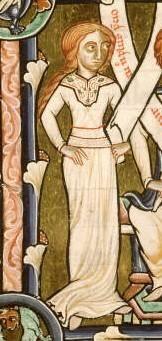 Bliaud - Costume civil à la fin du XIIème siècle Bible de Manérius, France, 1185