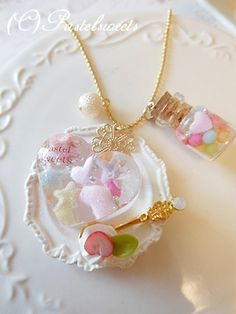 kawaii!! Kawaii Crafts, Kawaii Diy, Cute Crafts, Crafts To Do, Hobbies And Crafts, Kawaii Stuff, Kawaii Jewelry, Kawaii Accessories, Cute Jewelry