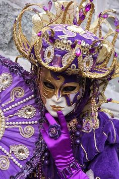 masque carnaval venise violet purple | Flickr - Photo Sharing!