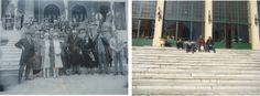 Hotel EL EDEN, Pcia de Cordoba en La Falda. Argentina.Por la misma escalera, y nos sacamos una foto, pasamos Einstein y yo!