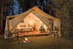 That's my kind of camping.