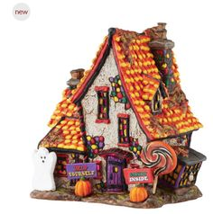 D56 Halloween Village Sweet Trappings Cottage