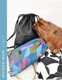 Mix colors Leather Recycled+Patch  Fix-Bag Season 17 by Maison Mow