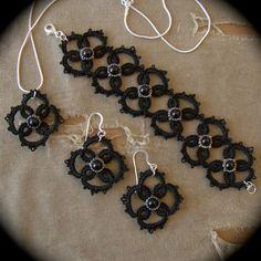 #etsy #handmade #black #earrings #necklace #pendant