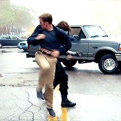 Steve is a ballerina. (gif) - I've never seen a failed stunt look so good