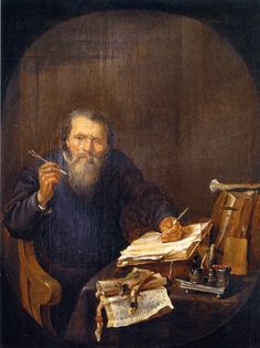 Gabriël Metsu A Notary Sharpening His Pen - The Largest Art reproductions Center In Our website. Gabriel Metsu, Gerrit Dou, Dutch Golden Age, Amazing Paintings, Dutch Painters, Vintage Artwork, Classical Art, Johannes Vermeer, Rembrandt
