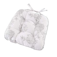 Etched Floral Seat Pad | Dunelm