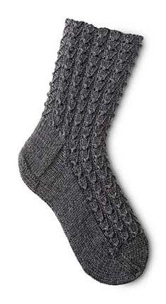Mock Croc Socks free download knitting Pattern