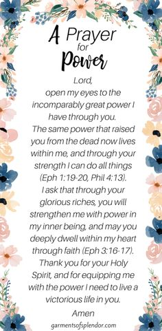 How to Experience the Power of God in the Midst of Suffering - Gain encouragement and strength from the truth that you are clothed with the power of Christ! Prayers For Strength, Prayers For Healing, Bible Prayers, Prayer Verses, Faith Prayer, Prayer Quotes, Bible Quotes, Quotes Quotes, Leiden