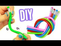 DIY BENDY PENCILS! Make Stretchy Bendy Pencils! - YouTube