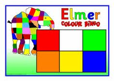 Elmer colour bingo