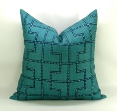 Bleecker pillow cover in Peacock  20 x 20 by sparkmodern on Etsy, $70.00