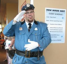 Officer Jonathan greeting Guests.