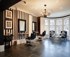 Salon goals! Belle Toujours, Cardiff, Wales, UK. www.belletoujours... #Salon #Luxury #Blackandwhite #black&white #salongoals #Hair #beauty #parisinspired #Cardiff #wales #design #Paris #hairdressing #belletoujours #2016 #spa #barber #stylist #colour #color #decorating #decor #chandelier #mirror #hairextensions #extensions #greatlengths