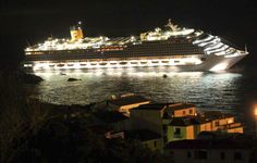 The luxury cruise ship Costa Concordia leans after it ran aground off the coast of the Isola del Giglio island, Italy, early Saturday, January 14, 2012. (AP Photo/Giglionews.it, Giorgio Fanciulli) #