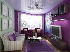 фиолетовые стены темный пол - Google Search