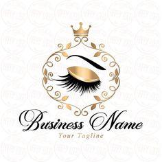 Logo design , lashes logo, crown lash beauty logo, makeup logo, gold lash l Custom Logo Design, Custom Logos, Eyelash Logo, Makeup Artist Logo, Beauty Business Cards, Lashes Logo, Makeup Rooms, Beauty Logo, Eyelashes