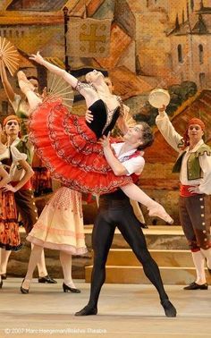 Natalia Osipova and Ivan Vasiliev in the Bolshoi Ballet's Don Quixote.Photo © 2007 Marc Haegeman