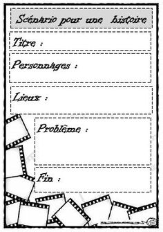 Great graphic organizer for a story in French French Teaching Resources, Teaching French, Writing Resources, Language Activities, Teaching Activities, Classroom Activities, Education And Literacy, Core French, French Classroom
