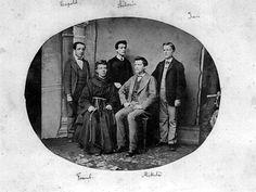 Leopold Pek, první ředitel vychovatelny, na obrázku se svými sourozenci