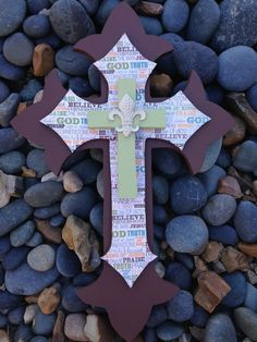 Hey, I found this really awesome Etsy listing at https://www.etsy.com/listing/212913028/large-triple-stacked-wall-hanging-cross