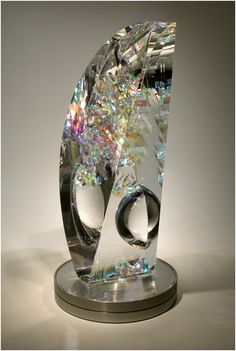 .: Toland Sand Glass Studio :: Sculpture Information :. I would love to see them making these pieces. Glass Sculpture. . .#art