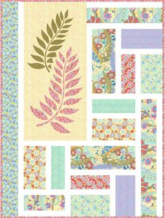 Free Quilt Pattern - Fern Valley Quilt  This would be great with a small panel or a large print that you just don't know what to do with.