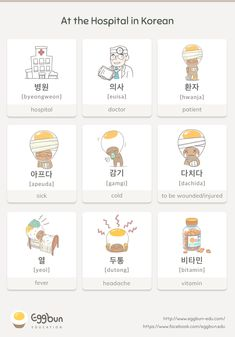 At the Hospital in Korean Chat to Learn Korean with Eggbun!