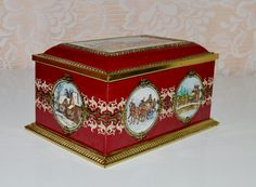 Horse Carriage Western Tin Klann Quality Hinged Tin by WVpickin