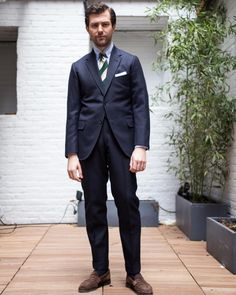 """dirnelli: """" bestofaaw: """" thearmoury: """" Mr. Carrol wearing a #tailorcaid two button suit in a heavy navy twill. Trunk Show this weekend  (at The Armoury New York) """" Everything is too short. What's the point of """"bespoke"""" if it doesn't fit? """" I'm..."""