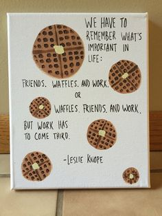 Parks and Rec Quote Canvas: Waffles by TheLazyPaintbrush on Etsy