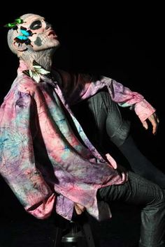 HOT!! Zombie Boy aka DJ model Rick Genest has it all going on!