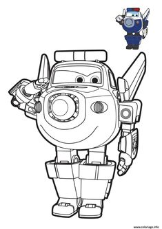 Coloriage super wings Paul Robot Dessin à Imprimer Airplane Coloring Pages, Dolphin Coloring Pages, Train Coloring Pages, Coloring Pages For Boys, Colouring Pages, Coloring Sheets, Coloring Books, Wings Drawing, Baby Drawing
