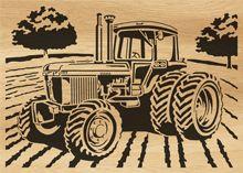 Scroll saw pattern 105-tractor by Alex Fox
