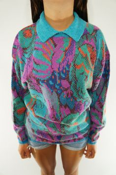 vintage collared sweater by VintageFad on Etsy