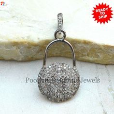 Christmas Gifts Gifts For Her Bird Pendant Genuine Pave Diamond Bird Charm Pendant Solid 925 Sterling Silver Fine Jewelry