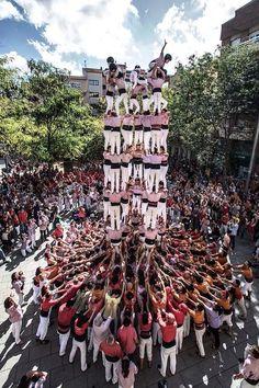 9d8 dels Minyons de Terrassa. Les Corts, Barcelona. #castellers