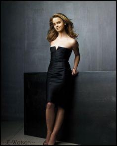 Emma Watson: Black on black
