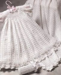 Crochet Christening Gown, Christening Dress. All my girls had one of these made by their grandmother. So beautiful.