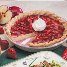 Strawberry Cream Cheese Pie Recipe  This is quick, healthy and really good.