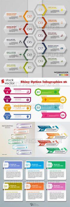 Векторный клипарт - Shiny Option Infographics 26