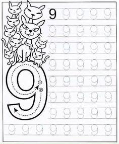 New System-Suitable Numbers Line Study - Preschool Children Akctivitiys Preschool Writing, Numbers Preschool, Learning Numbers, Preschool Curriculum, Math Numbers, Preschool Printables, Preschool Lessons, Kindergarten Worksheets, Worksheets For Kids