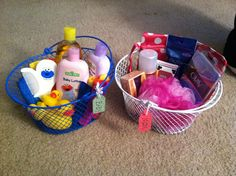 Baby shower gift for mom and baby under $20! (Dollar tree bargains )