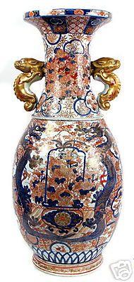 Antique Japanese Imari Porcelain Vase - 36 Inches