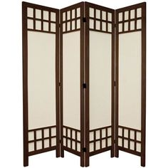 "Found it at Wayfair - 67"" Tall Window Pane Fabric 4 Panel Room Divider"